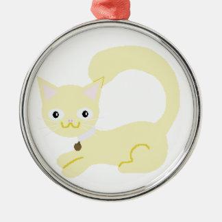 黄色い子猫のオーナメント メタルオーナメント