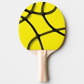 黄色い当惑の卓球ラケット、赤いゴム背部 ピンポンラケット