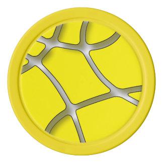 黄色い当惑の粘土のポーカー用のチップ、黄色く無地のな端 ポーカーチップセット