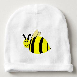 黄色い微笑ののまわりにのベビーの帽子 ベビービーニー