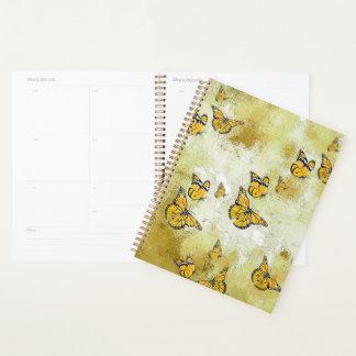 黄色い愛らしい蝶 プランナー手帳