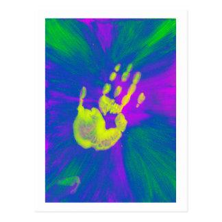 黄色い手 ポストカード
