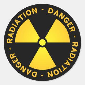 黄色い放射の警告 ラウンドシール