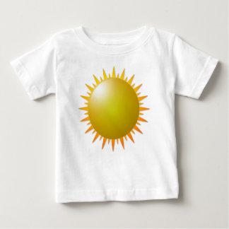 黄色い日光の日曜日の晴れた日 ベビーTシャツ