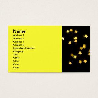 黄色い星はぼやけられる《写真》ぼけ味ライトを冬形づけます 名刺