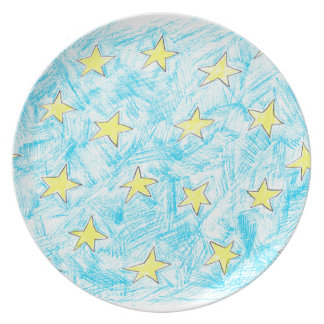 黄色い星パターン プレート