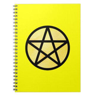 黄色い星形五角形のノート ノートブック