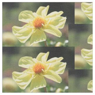 黄色い春の花 ファブリック