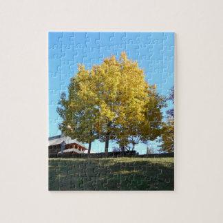 黄色い木および青空 ジグソーパズル