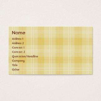 黄色い格子縞-ビジネス 名刺