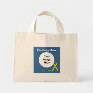 黄色い標準的なリボンのテンプレート ミニトートバッグ