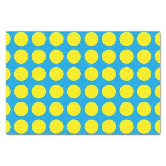 黄色い水玉模様のターコイズ 薄葉紙