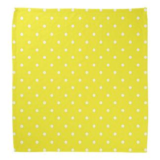 黄色い水玉模様のデザイン バンダナ