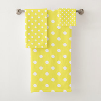 黄色い水玉模様 バスタオルセット