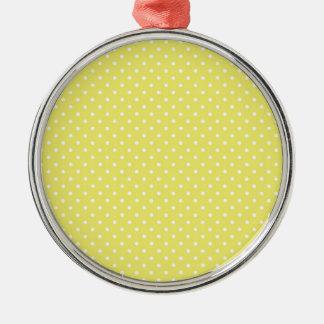 黄色い水玉模様 メタルオーナメント