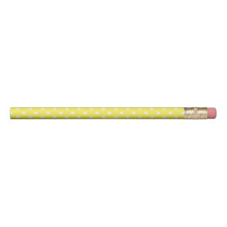 黄色い水玉模様 鉛筆