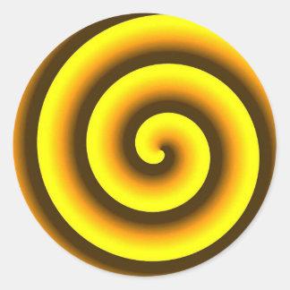 黄色い渦巻 ラウンドシール
