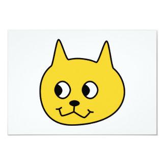 黄色い漫画猫 カード