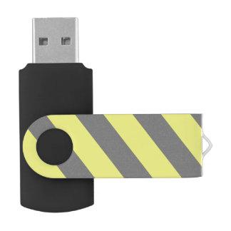 黄色い灰色の関心の建築の警告は縞で飾ります USBフラッシュドライブ