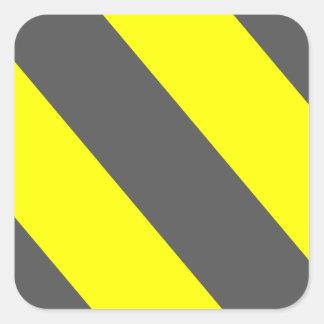 黄色い灰色の関心は縞で飾ります スクエアシール