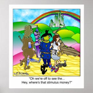 黄色い煉瓦道及び刺激のお金 ポスター