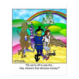 黄色い煉瓦道及び刺激のお金 ポストカード