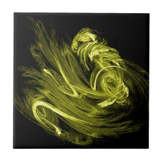 黄色い煙のフラクタル タイル