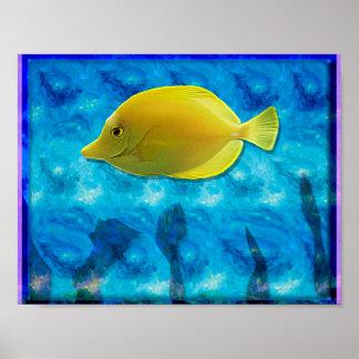 黄色い熱帯魚 プリント