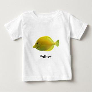 黄色い熱帯魚 ベビーTシャツ