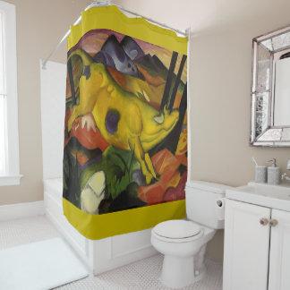 黄色い牛デザイナーシャワー・カーテン シャワーカーテン