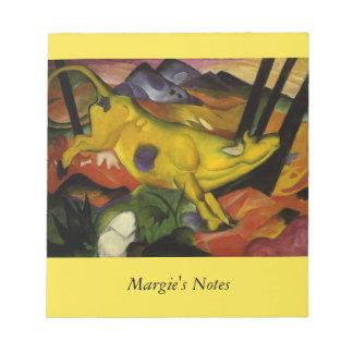 黄色い牛 ノートパッド
