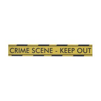黄色い犯罪現場テープ ラップアラウンド宛名ラベル