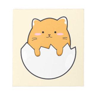 黄色い猫の卵 ノートパッド