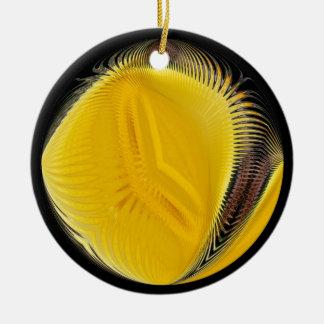 黄色い球の~のオーナメント セラミックオーナメント