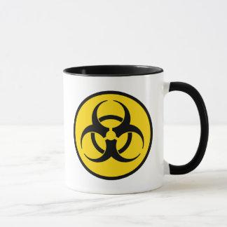 黄色い生物学的災害[有害物質]の記号のマグ マグカップ