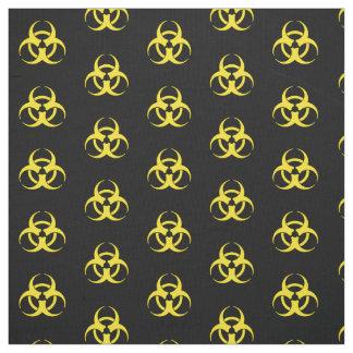 黄色い生物学的災害[有害物質]の記号 ファブリック