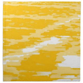 黄色い白の抽象芸術水波のレトロのナプキン ナプキンクロス