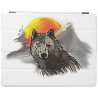 黄色い目を持つオオカミ iPadスマートカバー