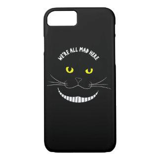 黄色い目を持つチェシャー微笑の透明な猫 iPhone 8/7ケース