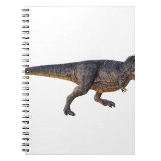 黄色い着色のティラノサウルス・レックスレックス ノートブック