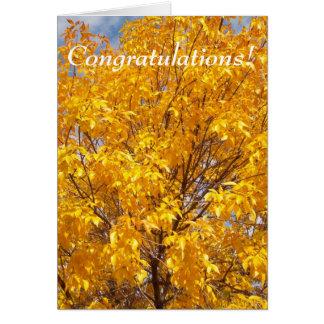 黄色い秋の栄光 グリーティングカード