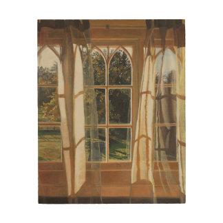 黄色い窓2013年 ウッドウォールアート