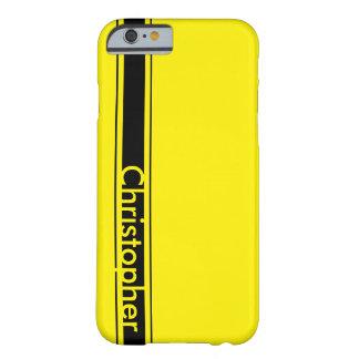 黄色い競争のストライプ BARELY THERE iPhone 6 ケース