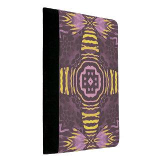 黄色い紫色のシマウマ パッドフォリオ