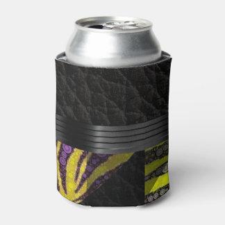黄色い紫色の空想パターン 缶クーラー