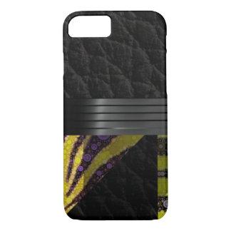 黄色い紫色の空想パターン iPhone 8/7ケース