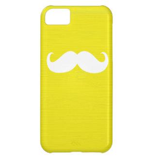 黄色い背景のおもしろいで白い髭 iPhone5Cケース