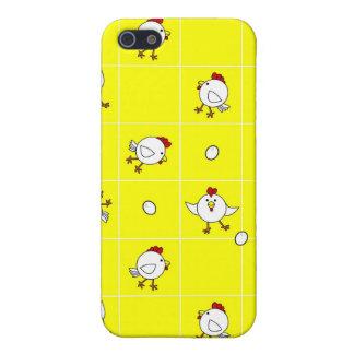 黄色い背景のかわいく幸せな鶏のダンス iPhone 5 CASE