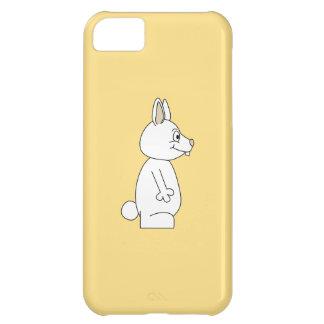 黄色い背景の白いウサギ iPhone5Cケース