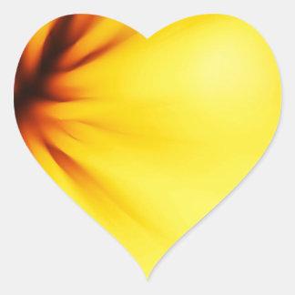 黄色い背景 ハートシール